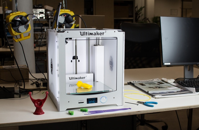 Lots of flexible 3D printing with our Ultimaker 2 and NinjaFlex filament