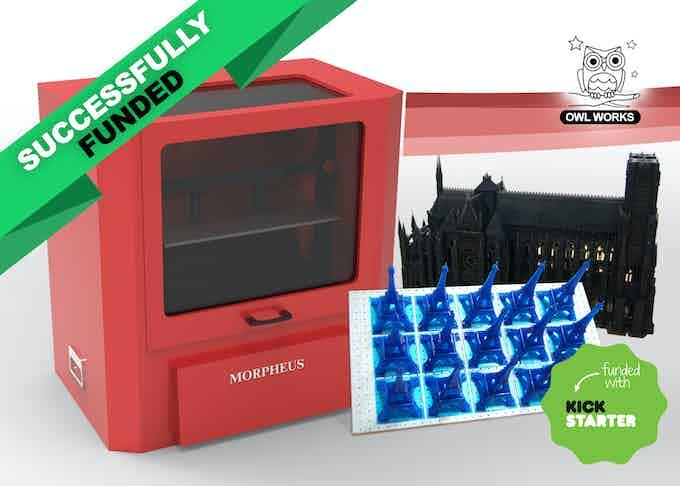MORPHEUS 3D printer, Kickstarter campaign 2015.
