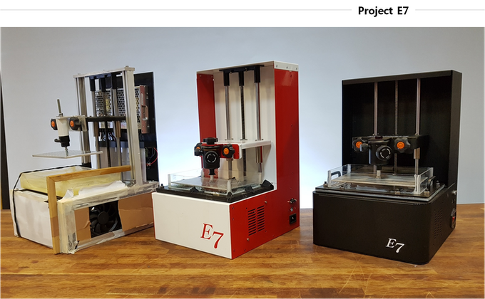 Project E7, evolution of prototypes.