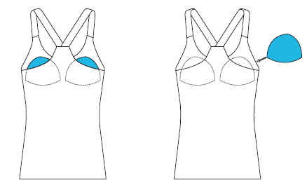 Simply Slip in the insert on either side with the blue fabric facing you