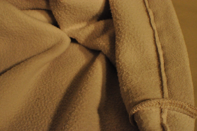 The inside of our Micro Fleece Pillow Case