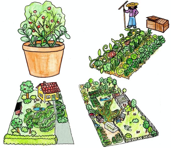 En blomkruka i ett fönster, en odlingslott, en bakgård i ett stadskvarter, en villaträdgård eller en stor trädgård på landet? Vår bok visar hur du kan arbeta tillsammans med ekosystemen!