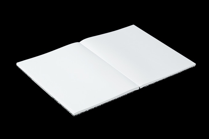 The interior of the unlined version of the notebook
