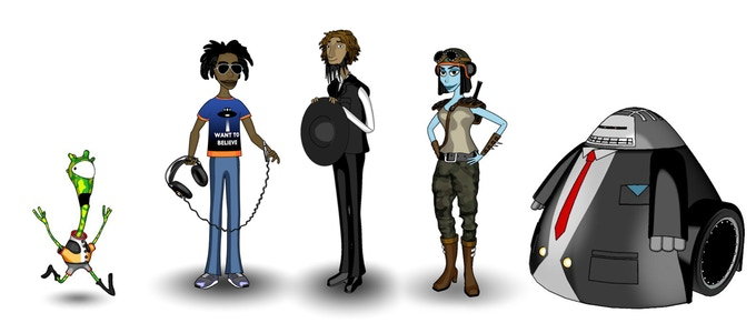 Meet the main characters: Harold, Ray, Jacob, Zuuley and Mr. Electron Burke