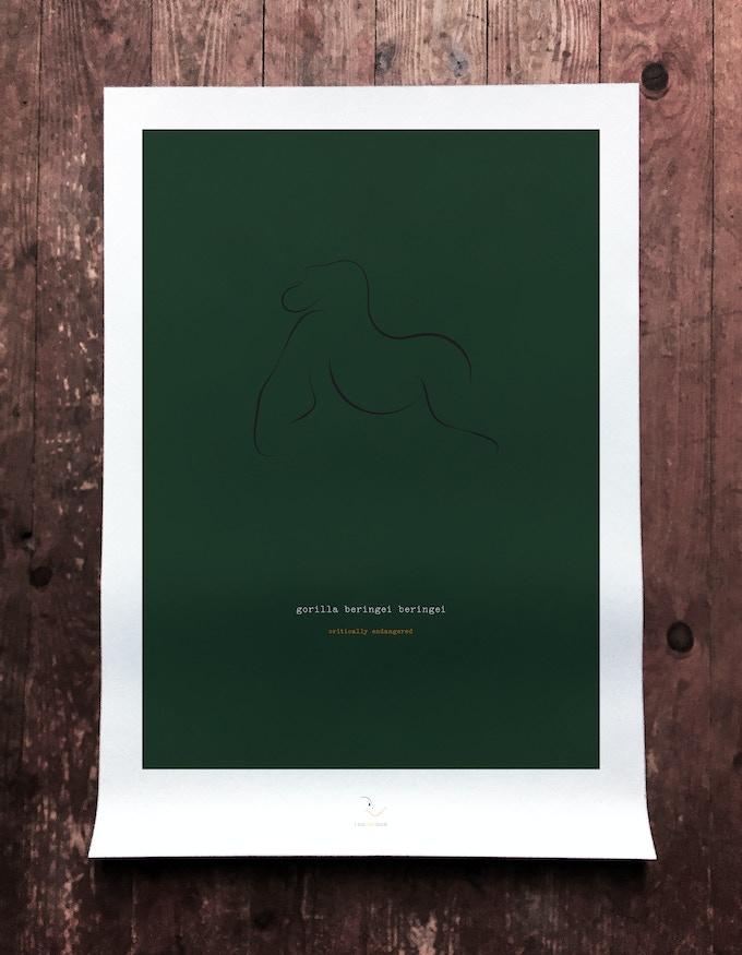 gorilla art print mockup