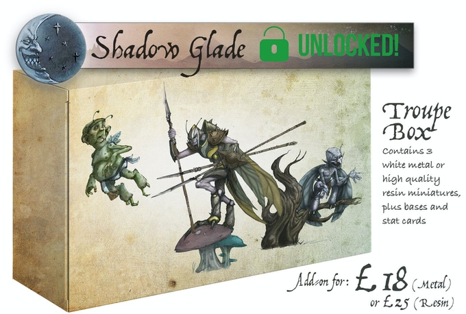 The Shadow Glade Troupe Box contains: Butterfingers, Wasp and Silvertongue