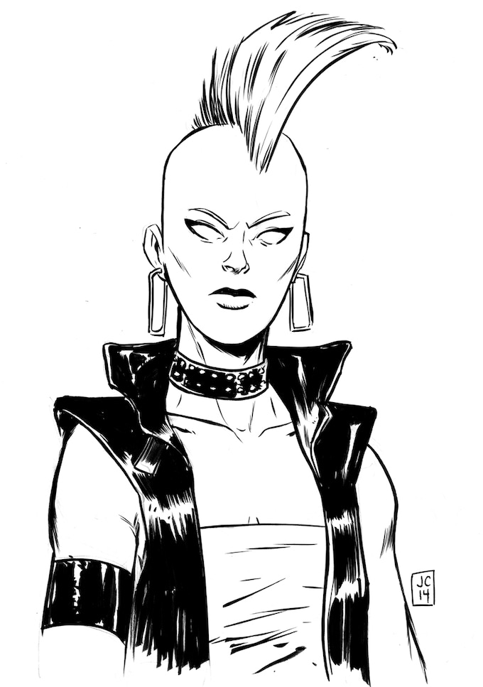 Inked Bust by Jason Copland