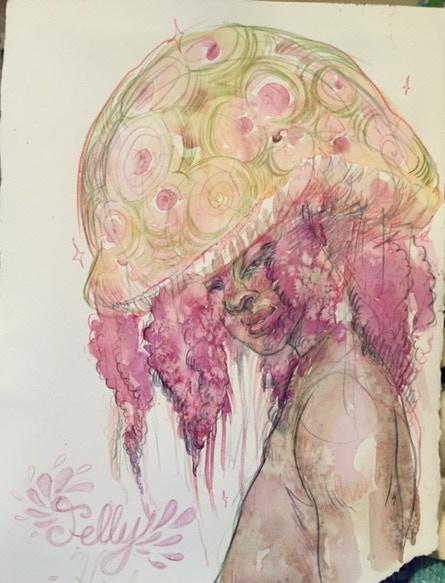 Julia Krase watercolor commission