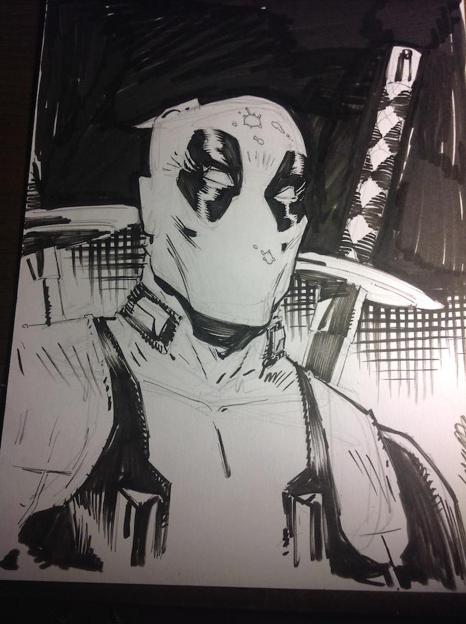 John Lucas Deadpool sketch