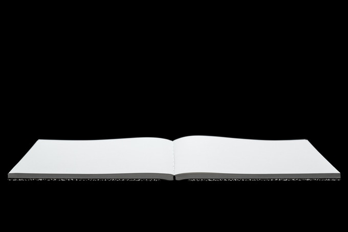 Layflat binding opens completely flat to reveal ultra white, smooth 120 gsm uncoated paper