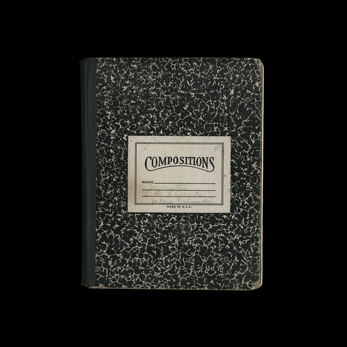 Printed American composition notebook, 1964