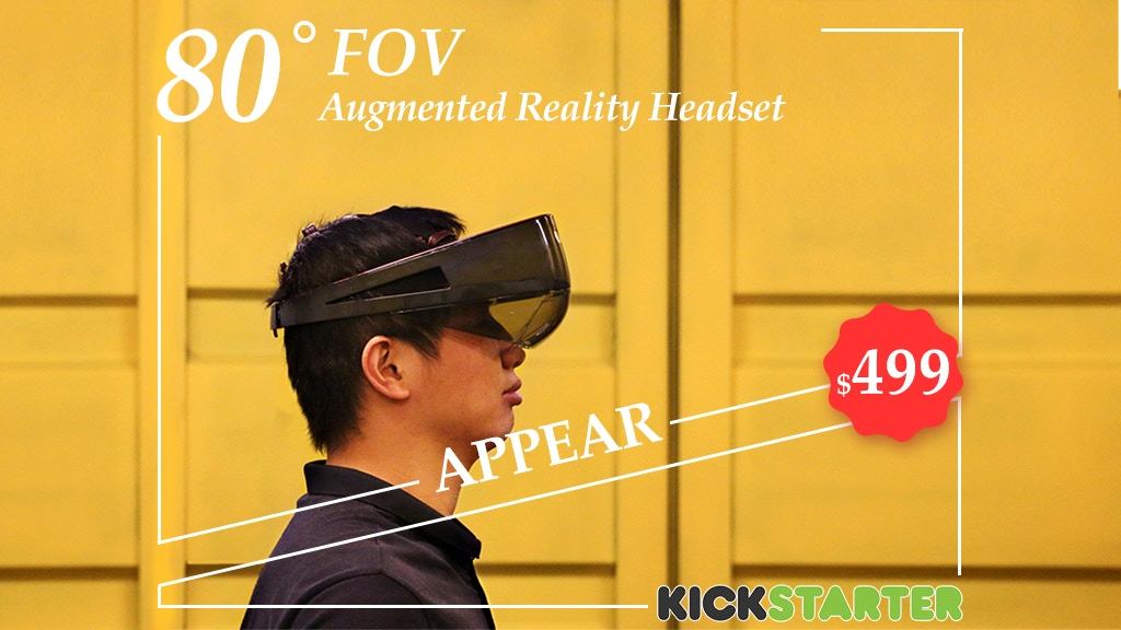 Project image for APPEAR: 80° FOV Augmented Reality Headset & Mobile AR Box (Canceled)