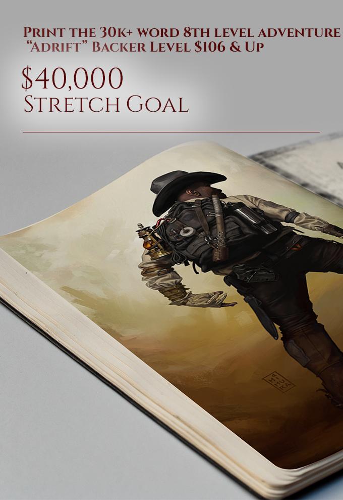 """Stretch Goal: """"Adrift"""" Adventure in Print"""
