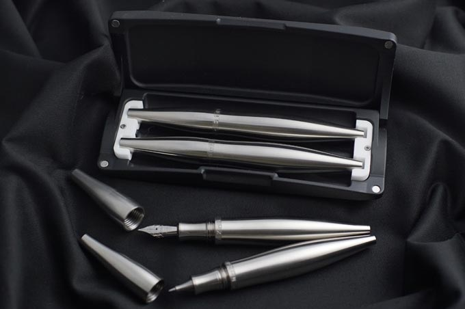 Stylos Pure Titanium housed in a Pen Capsule Case