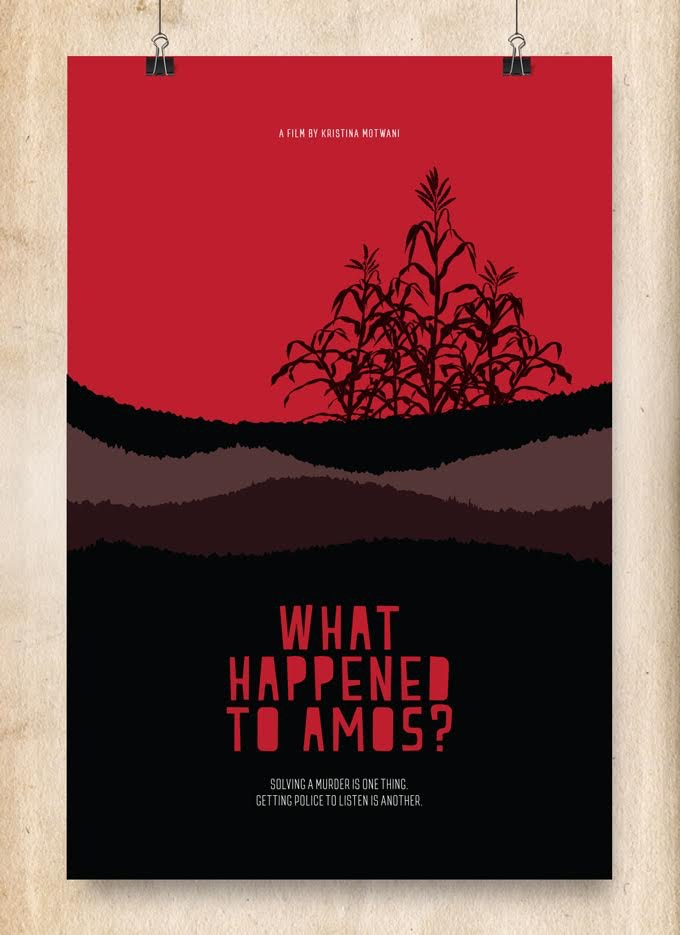 Screen Printed Movie Poster Red Corn