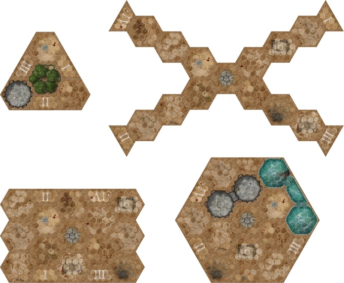 The modular board allows for many different scenarios.