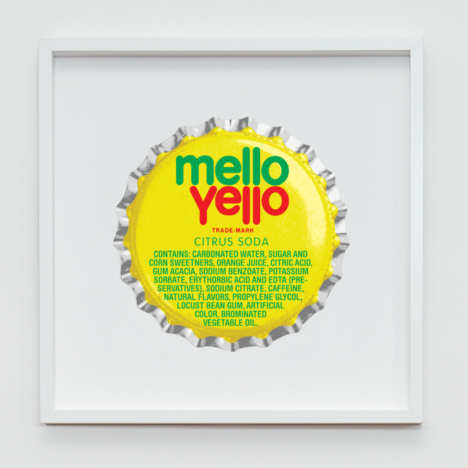 Mello Yello Fine Art Screenprint - Size: 500mm x 500mm