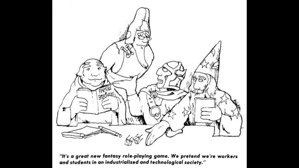 A roleplaying game of workers and students in an industrialized and technological society, based on Will McLean's original cartoon.
