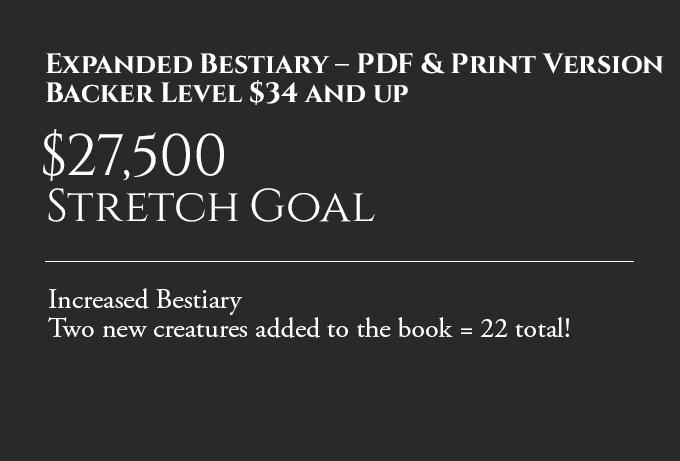 Backer Goal: Expanded Bestiary – PDF & Print Version
