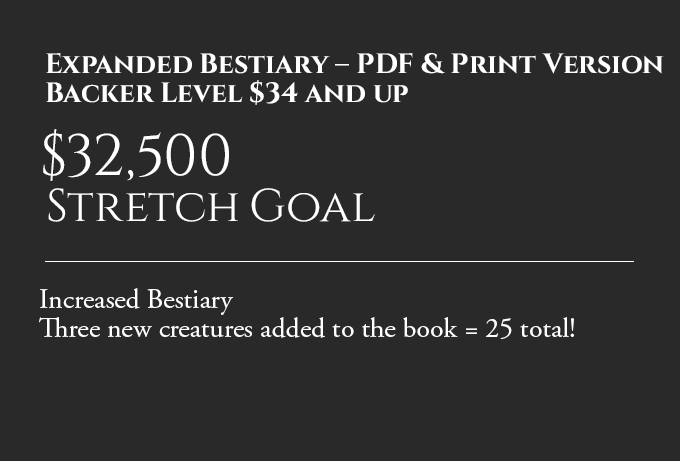 Backer Goal: Expanded Bestiary Stretch Goal – PDF & Print Version