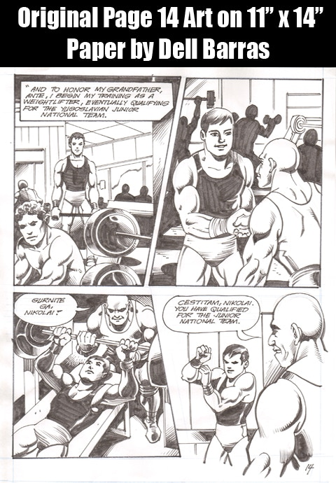 Early Panels of Nikolai in Wrestling Gear!