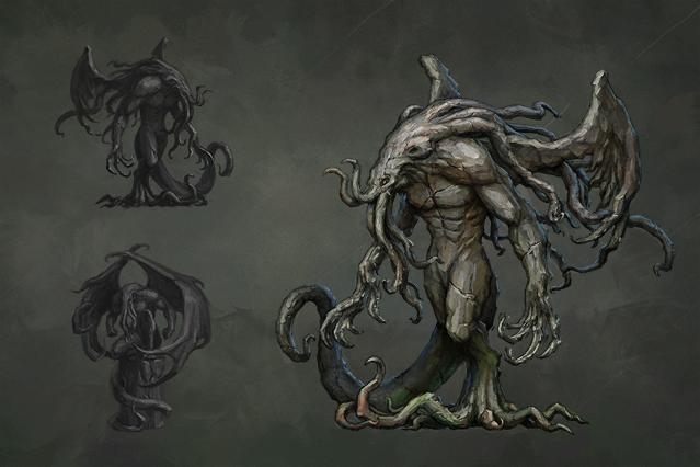 Concept of Weird Statue.