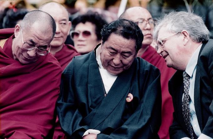 Thuten with His Holiness the Dalai Lama & Rt. Hon. David Lange, Auckland 1996