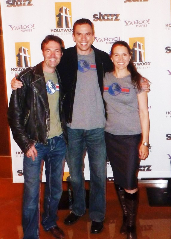 Karl Champley, Jesse Griffith, & Helena Taylor at Hollywood Film Festival.