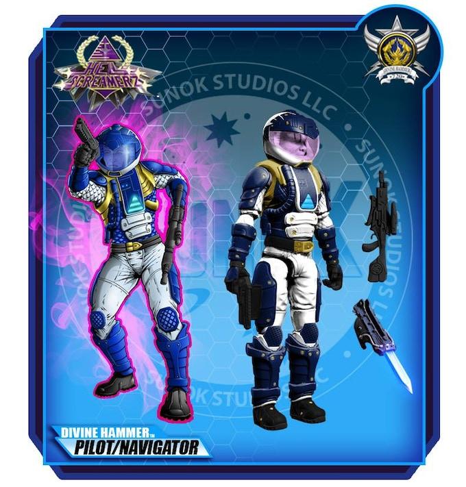 Divine Hammer Pilots/ Navigators $20 per figure comes carded