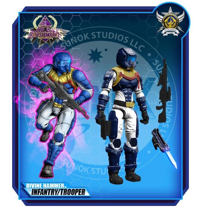 Divine Hammer Infantry Trooper $20 per figure comes carded
