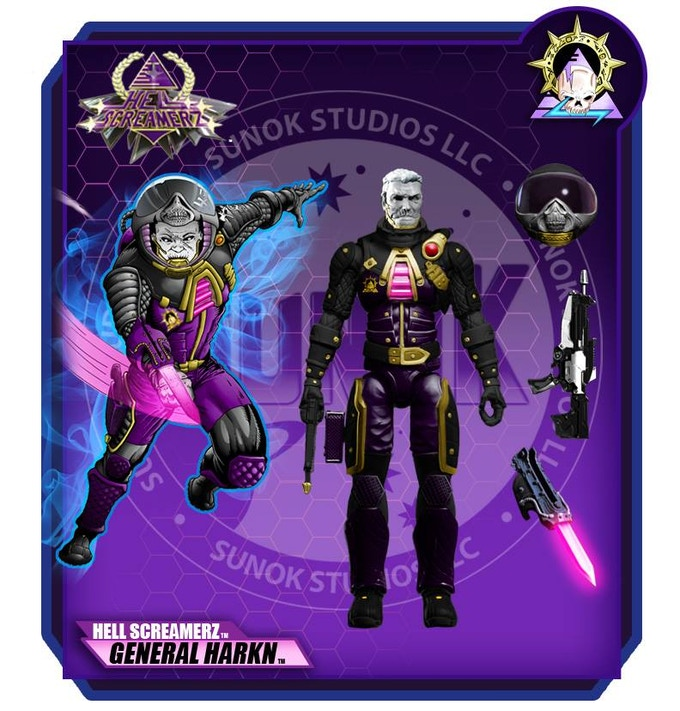 "Hell Screamerz General ""HARKN"" $20 per figure comes carded"