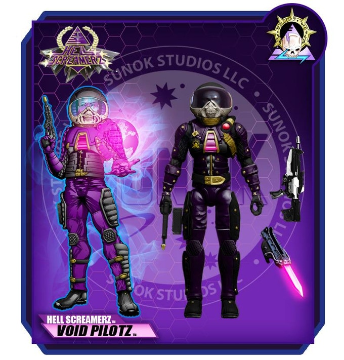 Hell Screamerz Void Pilotz/ Astral Navigatorz $20 per figure comes carded