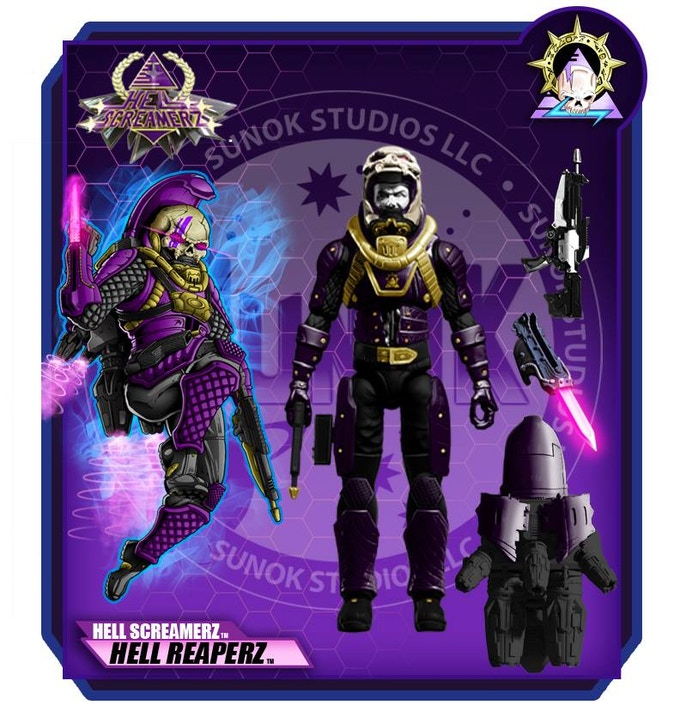 "Hell Screamerz ""Hell Reaperz"" Jump Infantry $25 per figure comes carded"