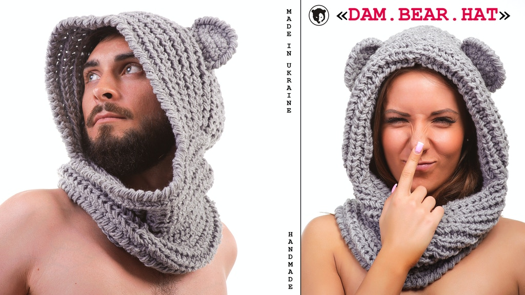 """Bear Hat"" Knitted product from brand ""Damico"" project video thumbnail"