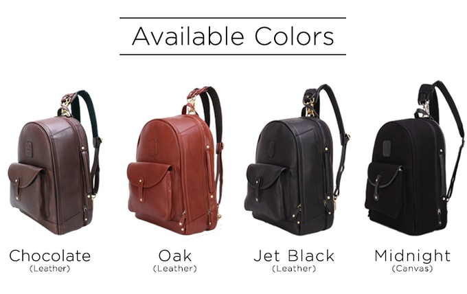 The Leather Duffle Backpack 6 In 1 Set Zip Pack Go By