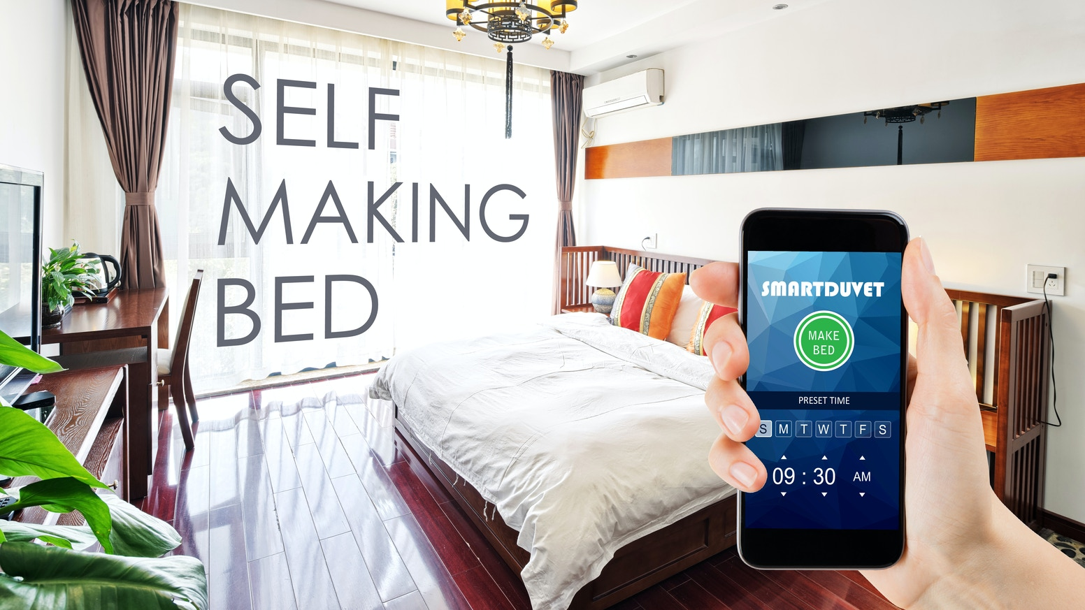 The World S First Easy And Universal Bed Making Solution A Seamless Device That Places