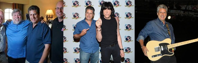 Glenn w Woz, w Marky Ramone, and Glenn the guitarist
