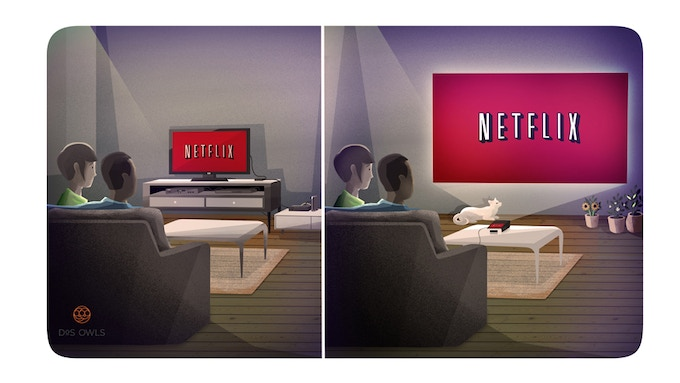 Stream Netlix, Hulu, HBO Now.  Simple and Easy Set-Up