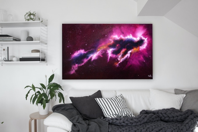 """The Little Angel Nebula"" Oil painting on canvas"