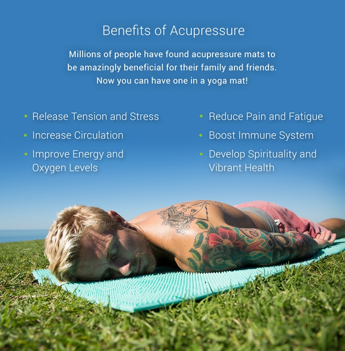 The World's First Acupressure Yoga Mat By