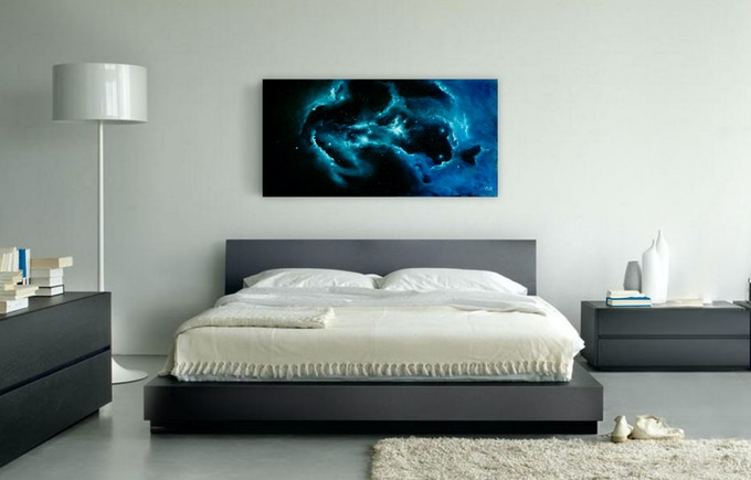 """From Nuclei To Nebulae"" Oil painting on canvas"