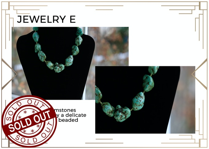 """MINIMUM $333 DONATION for this Prize and other prize tiers below it! A Beautiful Turquoise Necklace! Ancient Egyptians called Turqoise """"Mefkat,"""" which means """"Joy"""" and buried their Pharaohs with them! Only 1 available! SOLD OUT!!"""