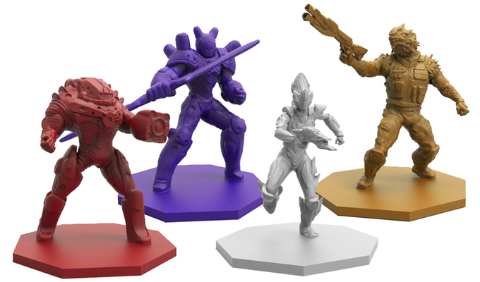 The highly detailed Galactic Coliseum gladiator miniatures