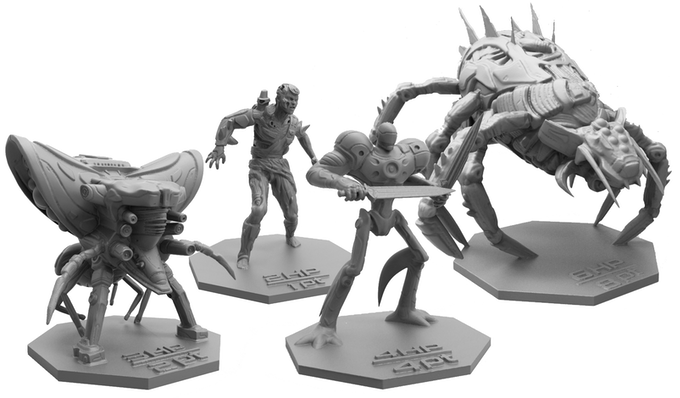 And the terrifyingly detailed Galactic Coliseum enemy minions!