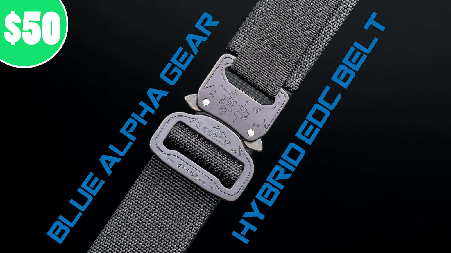 6d80240d5 Blue Alpha Gear Hybrid EDC Belt. The Hybrid EDC is a tough yet comfortable  belt featuring a super strong buckle that fits