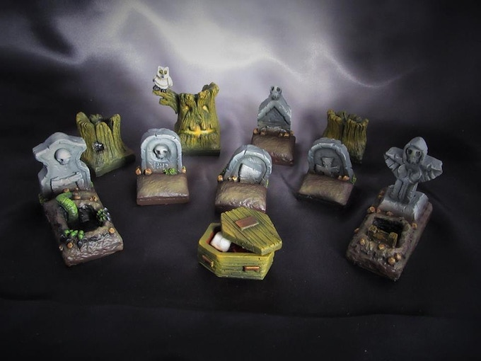Comes with Graves, coffin and spooky trees (Supplied unpainted) 320g