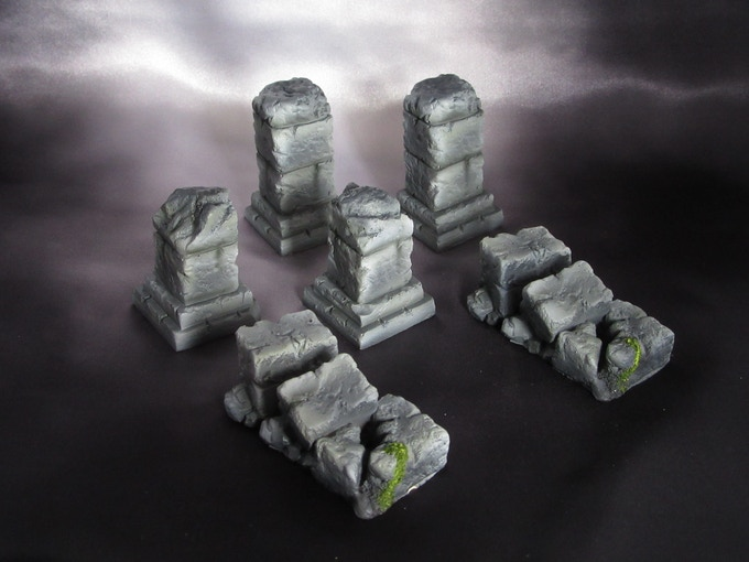 Dungeon columns (Supplied unpainted) 270g