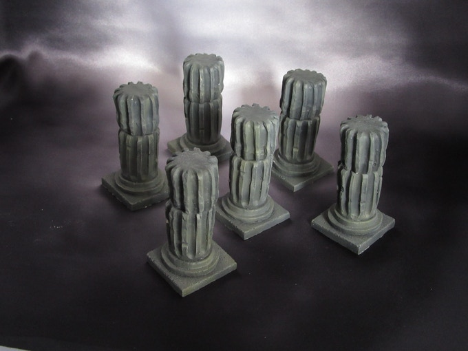 Fluted columns (Supplied unpainted) 180g