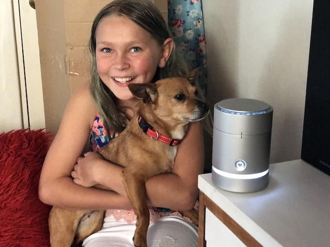 Nia with her pet Zincy