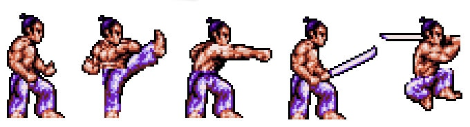 First Samurai character sprites
